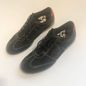 Coach Brandi Black Leather/Nylon Sneakers Size 9
